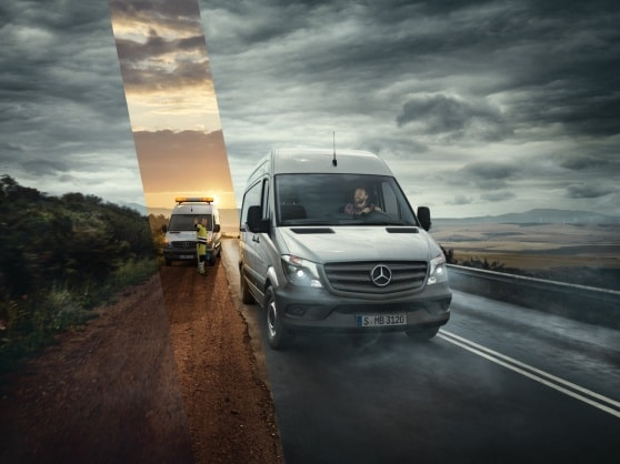 Mercedes-Benz assistance on the road