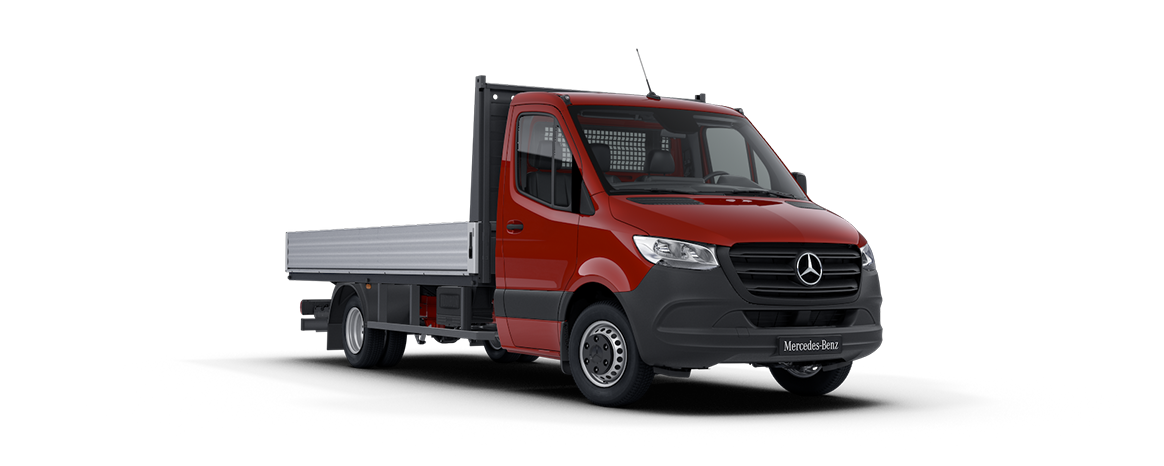 Sprinter Platform Vehicle, Jupiter red