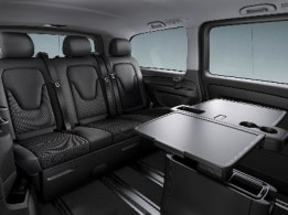 Vito Tourer, 3-seater bench as comfort bunk, 2nd rear seat row